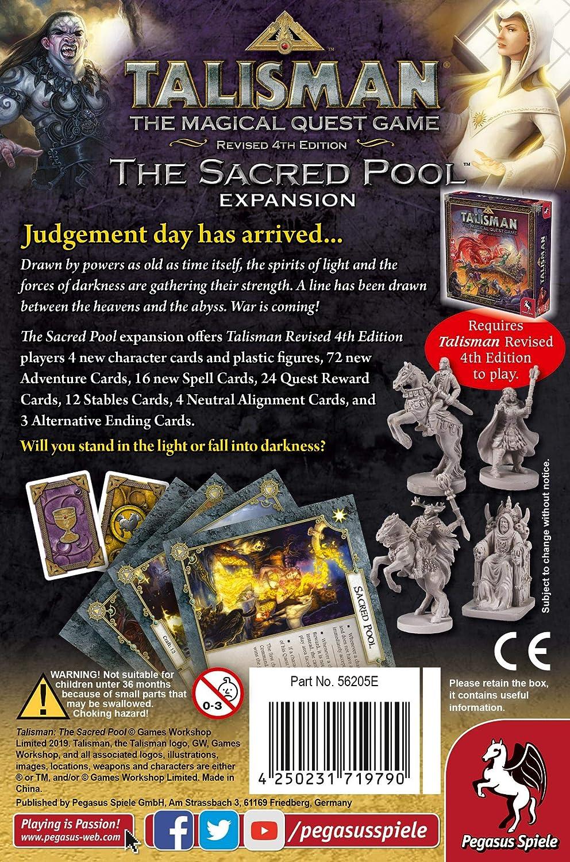 Pegasus Spiele 56205E Talisman The Sacred Pool - Juego de Mesa (expansión): Amazon.es: Juguetes y juegos