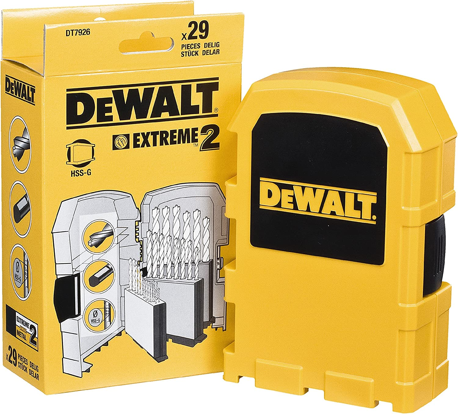 DeWalt DT7926XJ Extreme 2 Metal Drill Bit Set 29 Pieces N//A