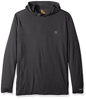 ff0bfb9a01b9 Carhartt Men's Force Extremes Hooded Pullover, Black Heather, Medium