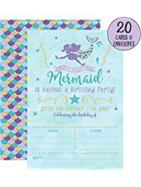Amazon invitations cards toys games invitations cards more mermaid birthday invitations stopboris Gallery