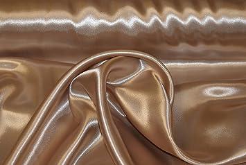 3Meter Satin Stoff Dekostoff 150cm Breit Cappuccino