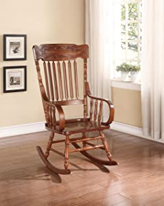 ACME Furniture 59210 Kloris Rocking Chair, Tobacco