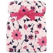 Hudson Baby Super Plush Blanket, Pink Floral, One Size