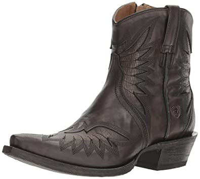 Women's Santos Western Cowboy Boot Naturally Charcoal 8.5 B US