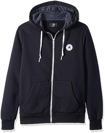 f1ec8eded Converse Men's Full Zip Hoodie Hooded Sweatshirt
