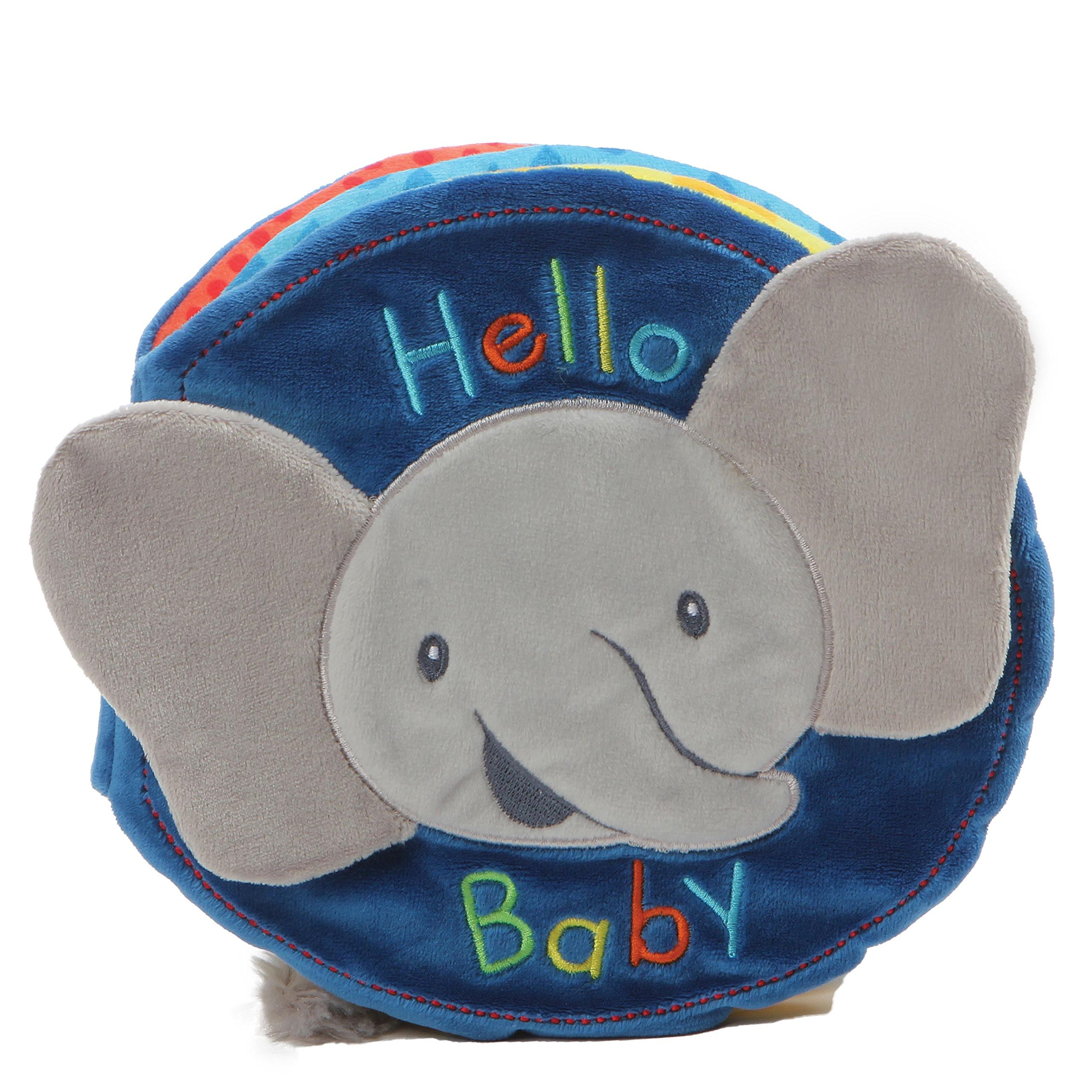 Gund Baby Flappy The Elephant Soft Activity Sensory Stimulating Book, 8''