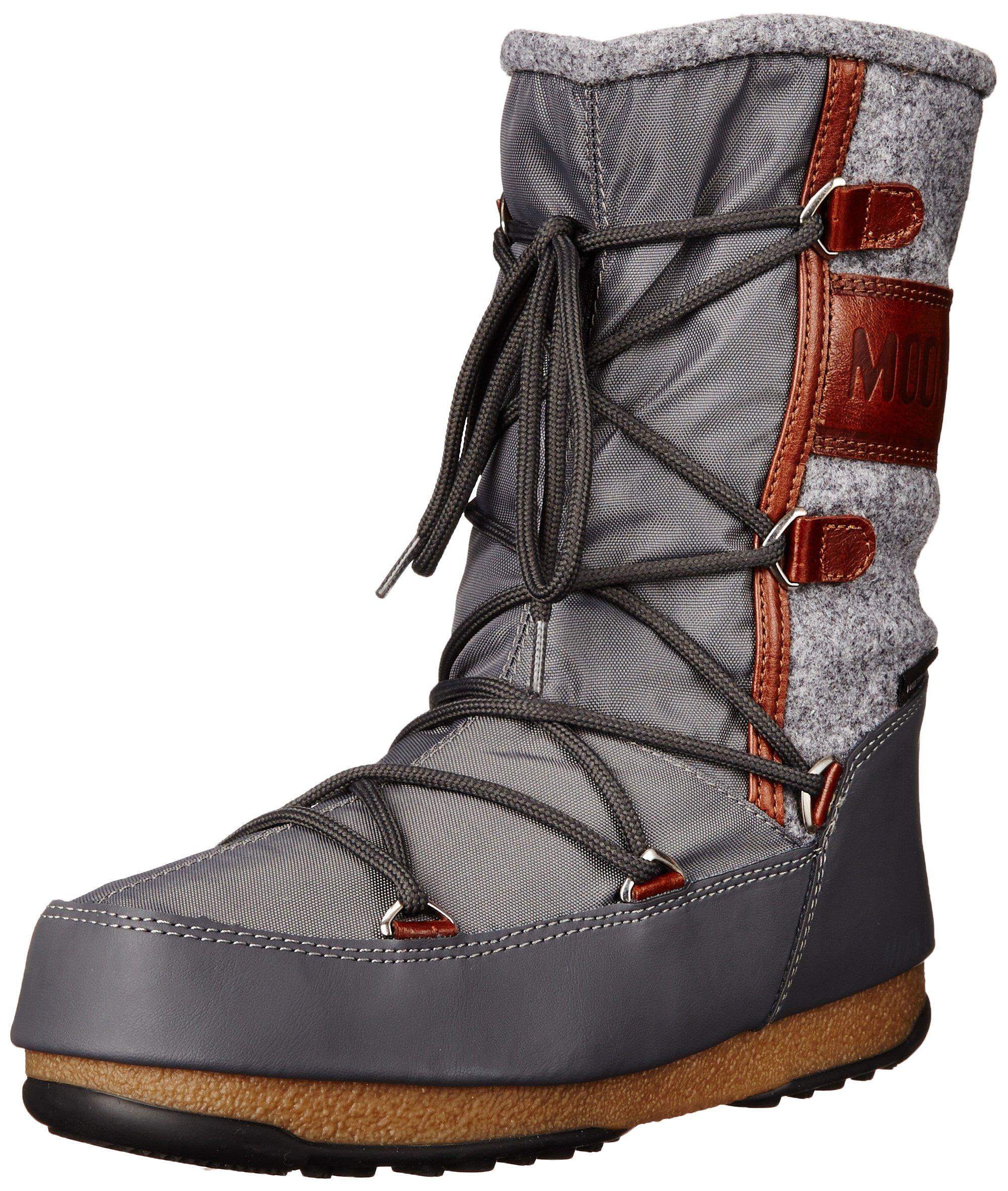 Tecnica Women's Moon W.E. Vienna Felt Winter Fashion Boot, Gray, 41 EU/9-9.5 M US