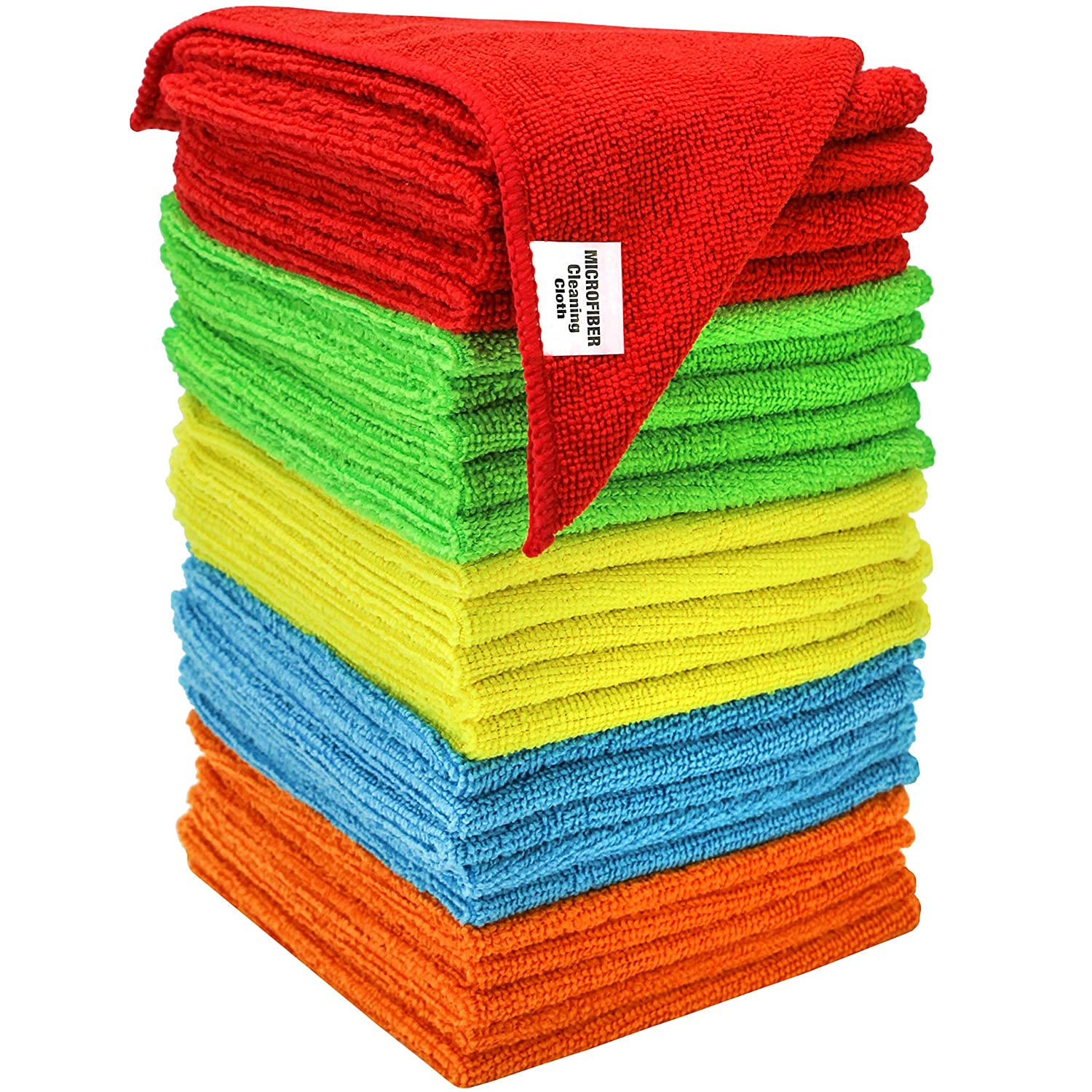 S & T 594501 25 Pack Microfiber Bulk Cleaning Cloth 25 Pack