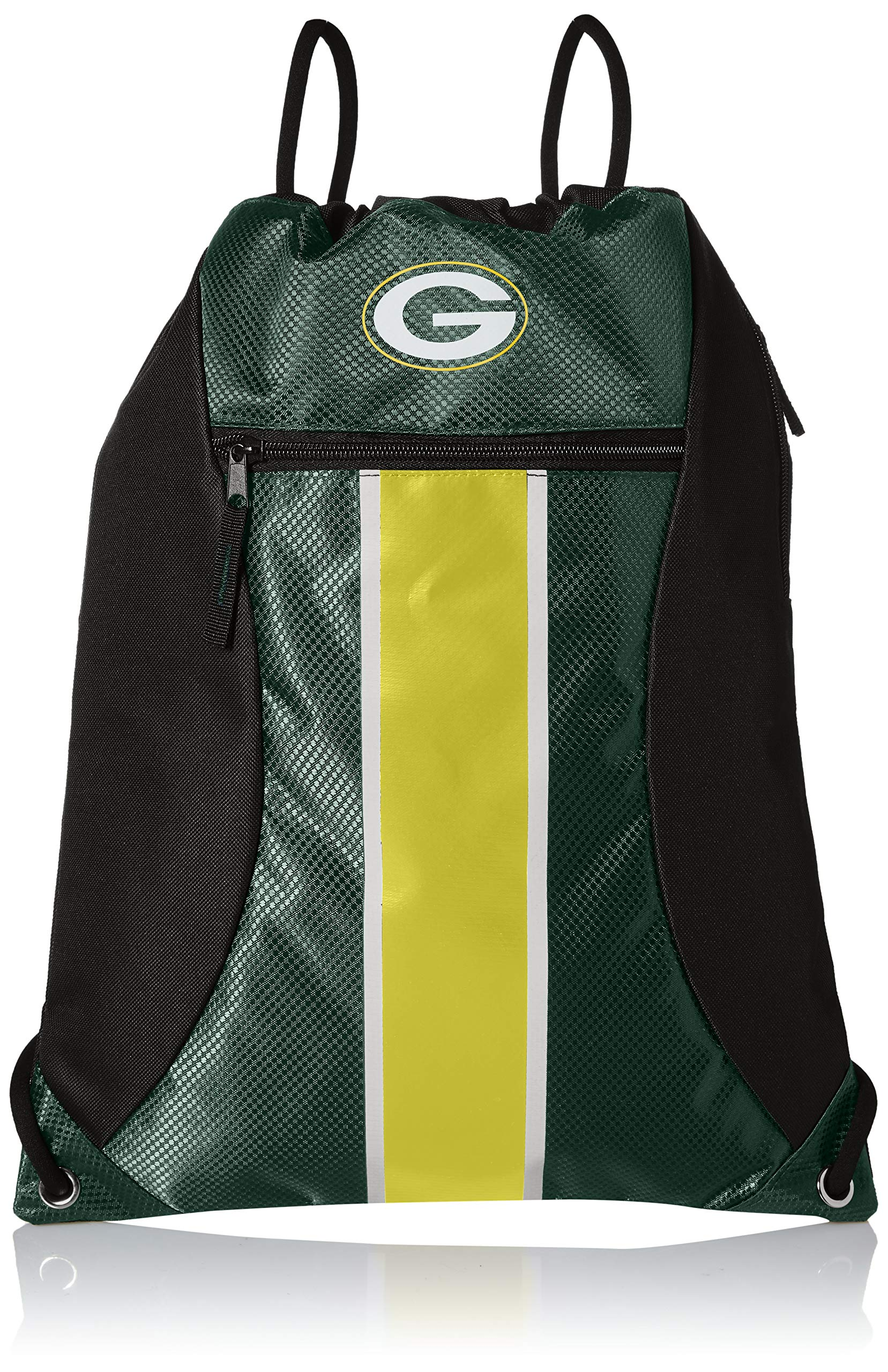 Green Bay Packers Big Stripe Zipper Drawstring Backpack