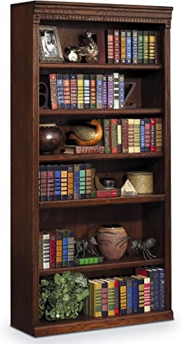 Martin Furniture Huntington Oxford 72 Open Bookcase, Burnish Finish, Fully Assembled