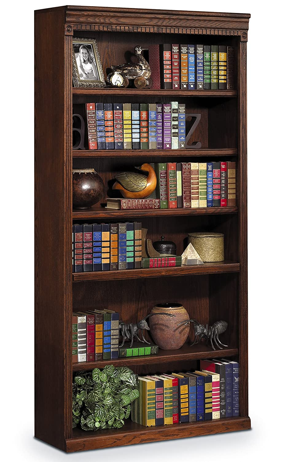Kathy Ireland Home By Martin Huntington Oxford 72 Open Bookcase - Burnish Finish - Fully Assembled