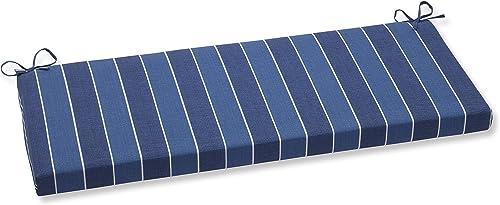 Pillow Perfect 568539 Outdoor Indoor Wickenburg Indigo Bench Swing Cushion, 45 x 18 , Blue
