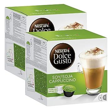 Nescafé Dolce Gusto soja capuchino, Café con leche de soja, soy Leche, libre de lactosa, Cápsula de café, 32 Cápsulas, (16 Raciones): Amazon.es: Hogar