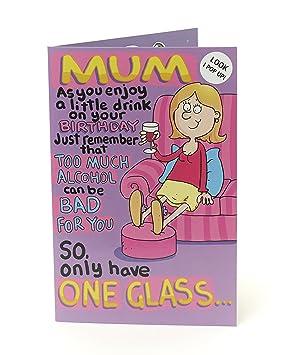 Mum Birthday Card Funny 3d Pop Up Birthday Card Mum Gift Card