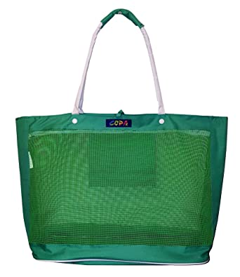 Amazon.com | X-Large Oversized Mesh Beach Bag Tote with Zipper ...