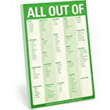Knock Knock All Out of Checklist Note Pad with Magnet, Green (12272)