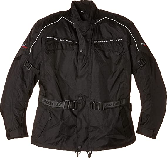 Roleff Racewear Schwarze Motorradjacke Mit Protektoren Thermofutter Klimamembrane Und Belüftungssystem Für Sommer Und Winter Schwarz Größe 5xl Auto
