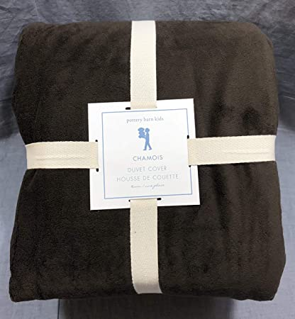 Amazon Com Pottery Barn Kids Brown Chamois Twin Duvet Cover Home
