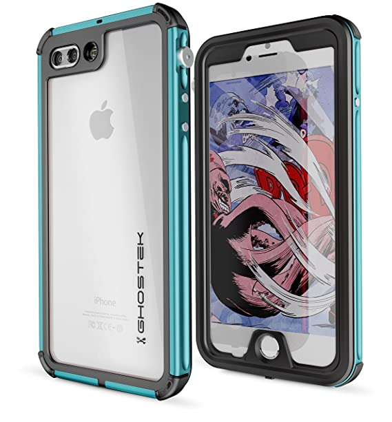 factory price fb576 aa2d1 Ghostek Atomic Heavy Duty Waterproof Case Compatible with iPhone 8 Plus / 7  Plus - Teal