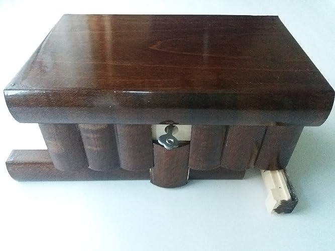 Nueva caja del rompecabezas de madera grande de color sencillo marron joyero de madera caja mágica