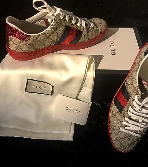 Gucci Zapatillas Deportivas Hombre Ebano 44 EU: Amazon.es: Zapatos y complementos