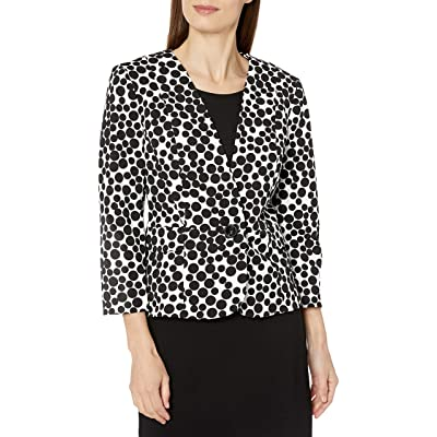 Kasper Women's 1 Button Gumball Printed Crepe Jacket: Clothing