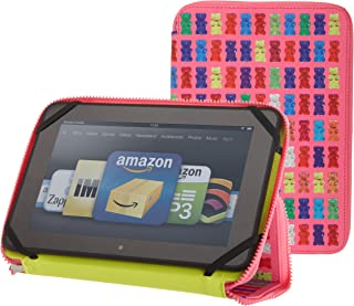PUNCHCASE By Leslie Hsu Ace Zip Around Standing Case, Pink Gummy Bears (Made for Kindle Fire HD 8.9')