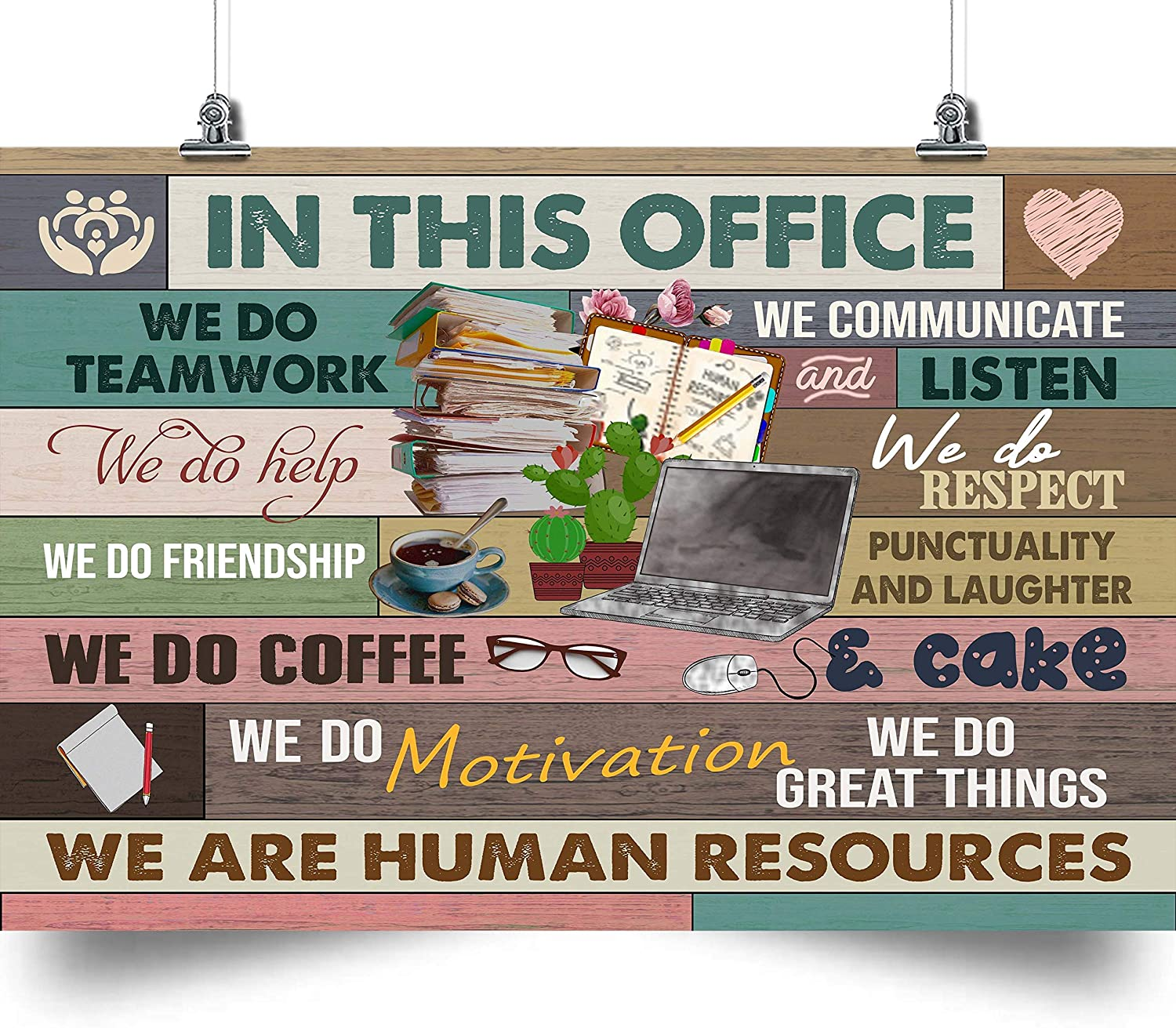 Bug Hunter in This Office we are Human Resources Poster Wall Art Home Decor Gifts for Lovers Painting (No Frame)