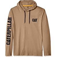Caterpillar Mens 1510425 UPF Hooded Banner L/S Tee Long Sleeve Shirt