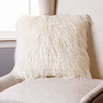 faux fur throw and pillow set best home fashion ivory lamb cover 20 black