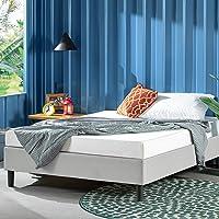 Zinus Curtis Double Bed Base Ensemble Bed - Light Grey Fabric Mattress Base Foundation