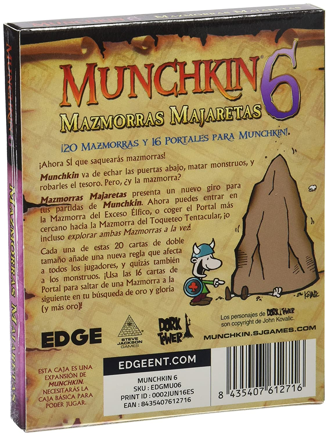 Amazon.com: Steve Jackson Games Munchkin 6: Demented Dungeons: Toys & Games