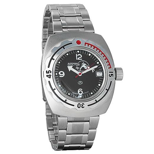 Vostok Amphibian - Reloj de pulsera automático para hombre, de cuerda automática, de buzo militar, 090634 Scuba Dude: Amazon.es: Relojes