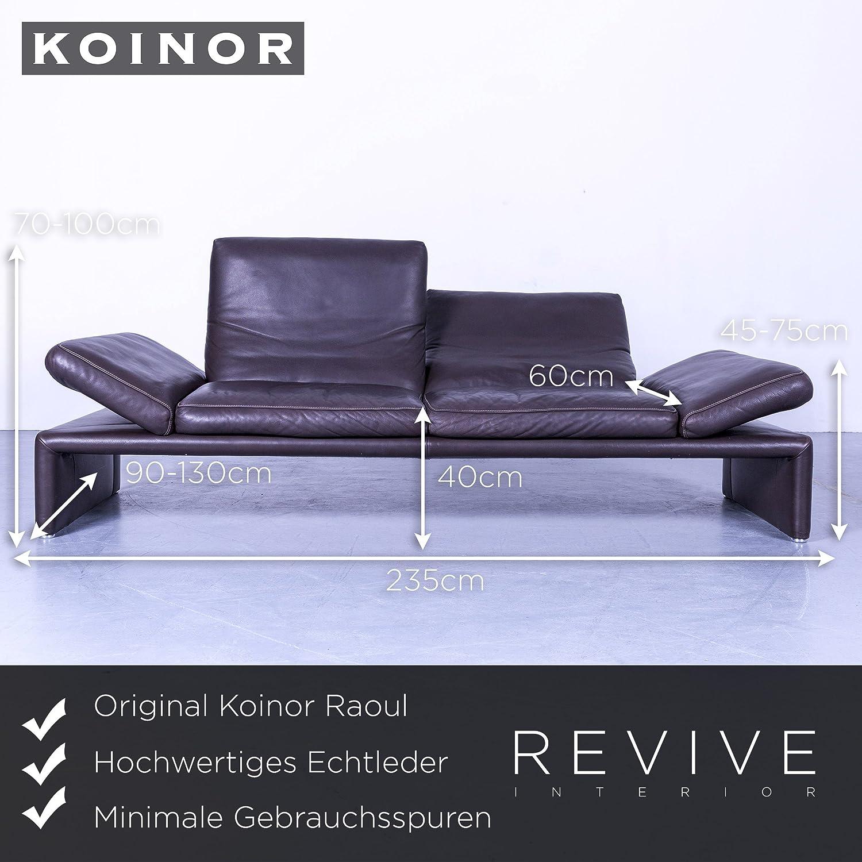 Amüsant Sofa Echtleder Galerie Von Conceptreview: Koinor Raoul Designer Braun Dreisitzer Couch
