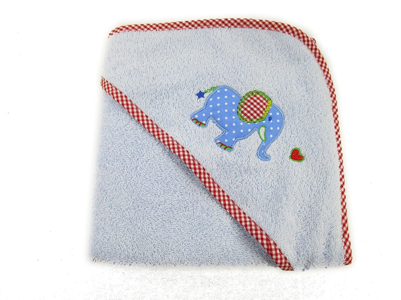 Baby Charms Colgantes de bebé toalla de baño con capucha, 75 x 75 cm, Azul Claro, Modelo # 12600: Amazon.es: Juguetes y juegos