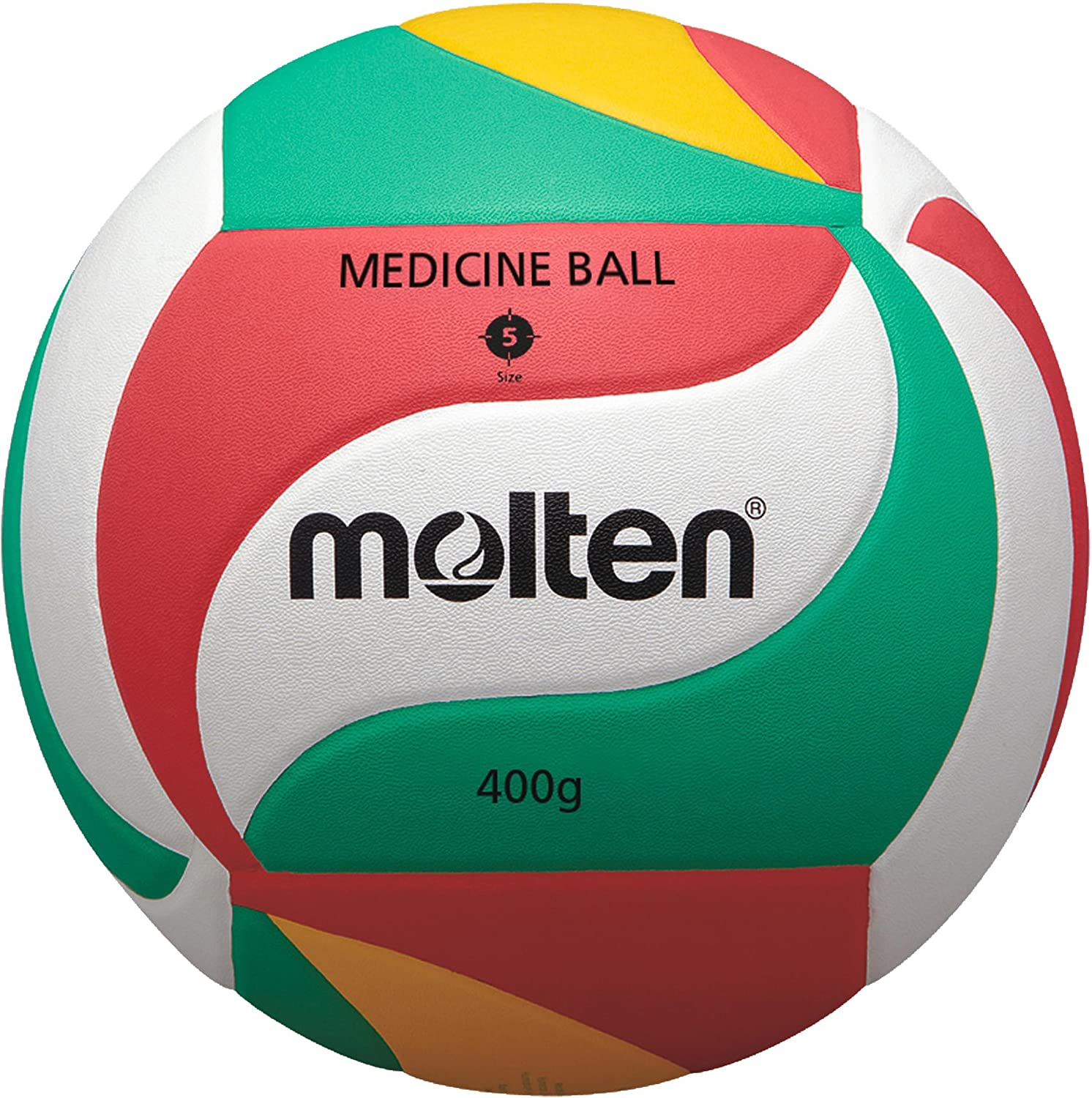 Molten Setter Training Volleyball, Green/Red/Yellow/White Molten USA Inc. V5M9000-M