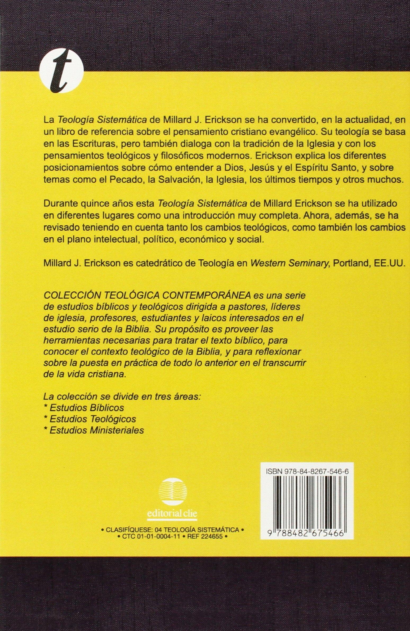 Teolog a sistem tica de erickson spanish edition millard j erickson 9788482675466 amazon com books