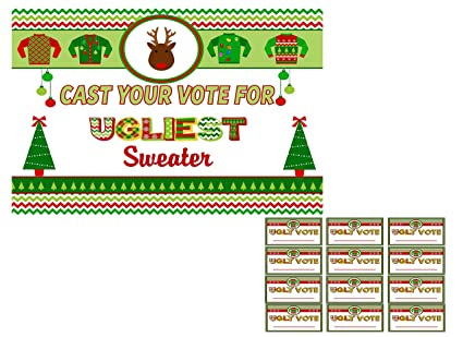 Amazon Com Ugly Christmas Sweater Party Invitations Supplies And