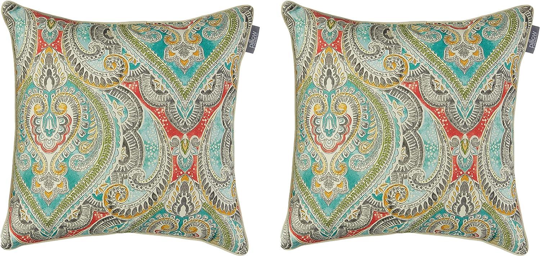 Pillow Perfect Outdoor Indoor Pretty Reef Thro 18.5-inch 4 Superlatite years warranty Witty