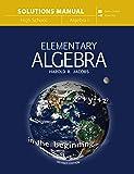 Elementary Algebra (Solutions Manual)