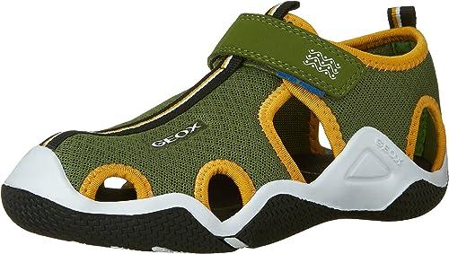 Geox Boys' Jr Wader C Closed Toe Sandals