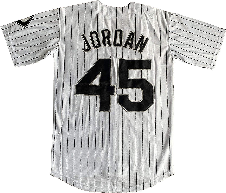 Dexinton Birmingham Barons Camiseta de Manga Corta de b/éisbol Color Negro 45 micheales