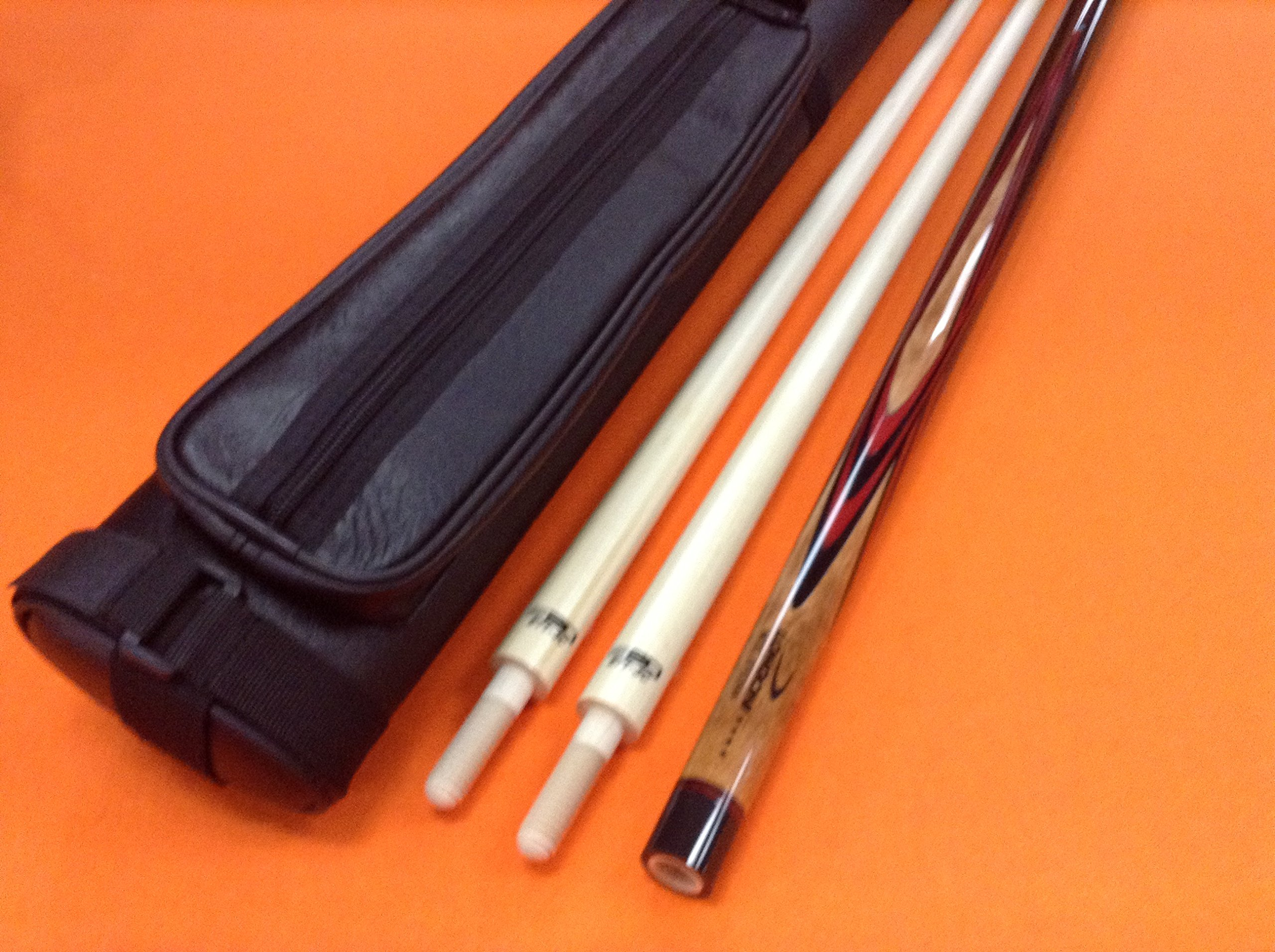 LONGONI CAROM CUE EFEDRA WITH S20 SHAFTS & CASE