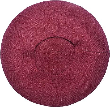 ZLYC B/éret fran/çais r/éversible couleur unie cachemire chaud chapeau pour femmes filles