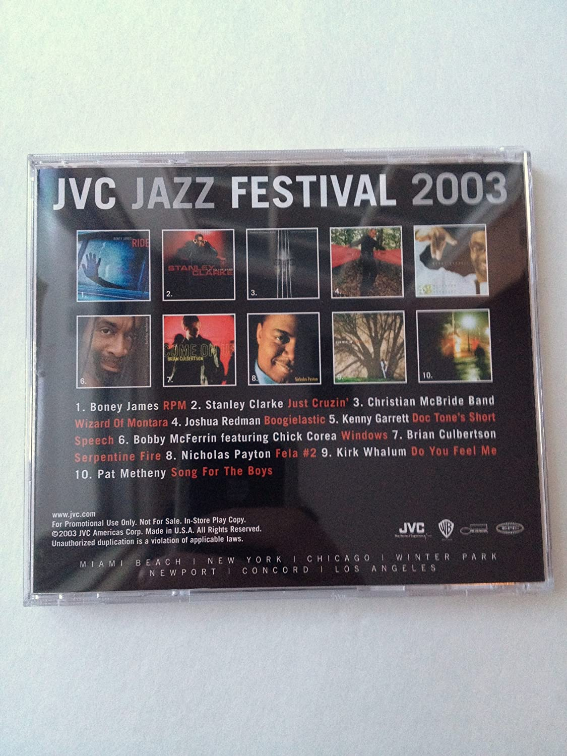 Amazon com : Exclusive Collectors JVC Jazz Festival 2003 CD