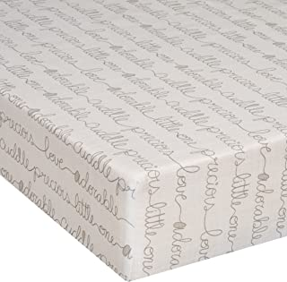 product image for Glenna Jean Crib Fitted Sheet, All My Love, Cream/Beige, Mini