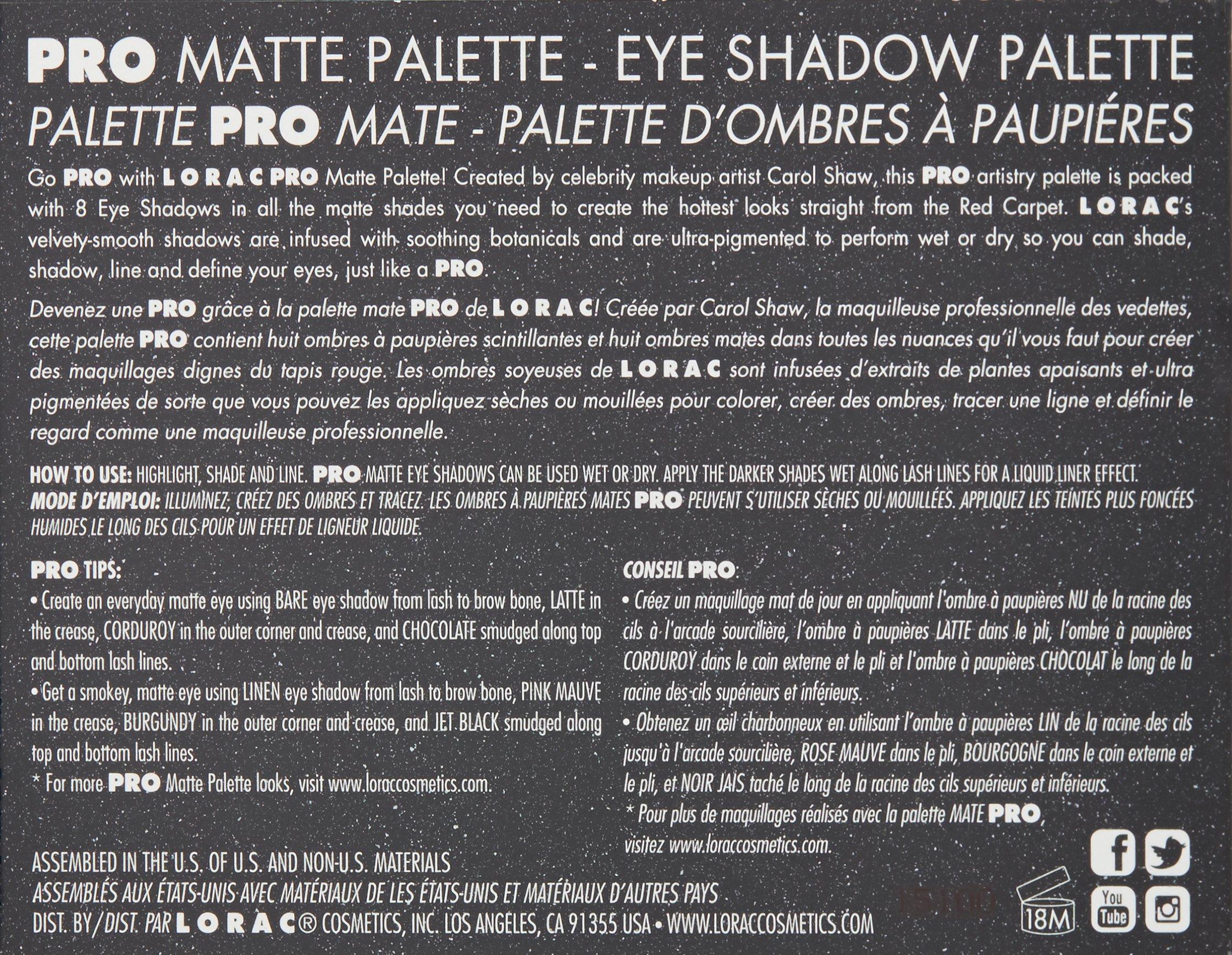 LORAC Pro Matte Eye Shadow Palette by LORAC (Image #3)