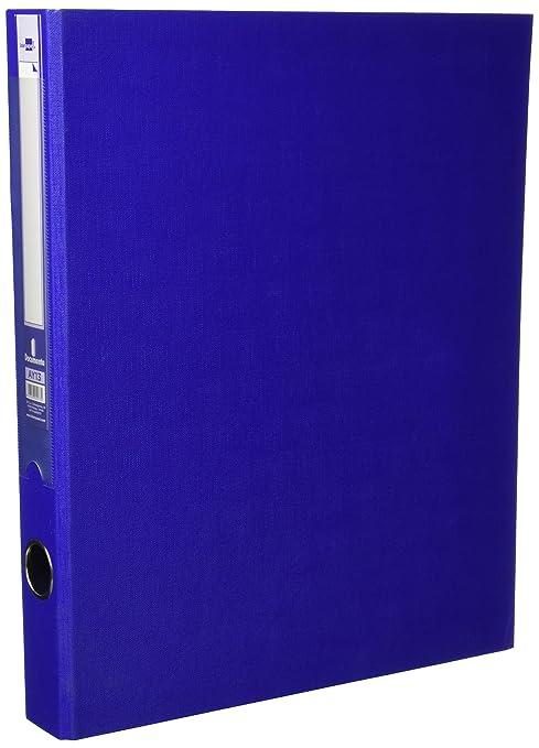 Archivador Carton Forrado Folio 2 Anillas 25 Mm Azul
