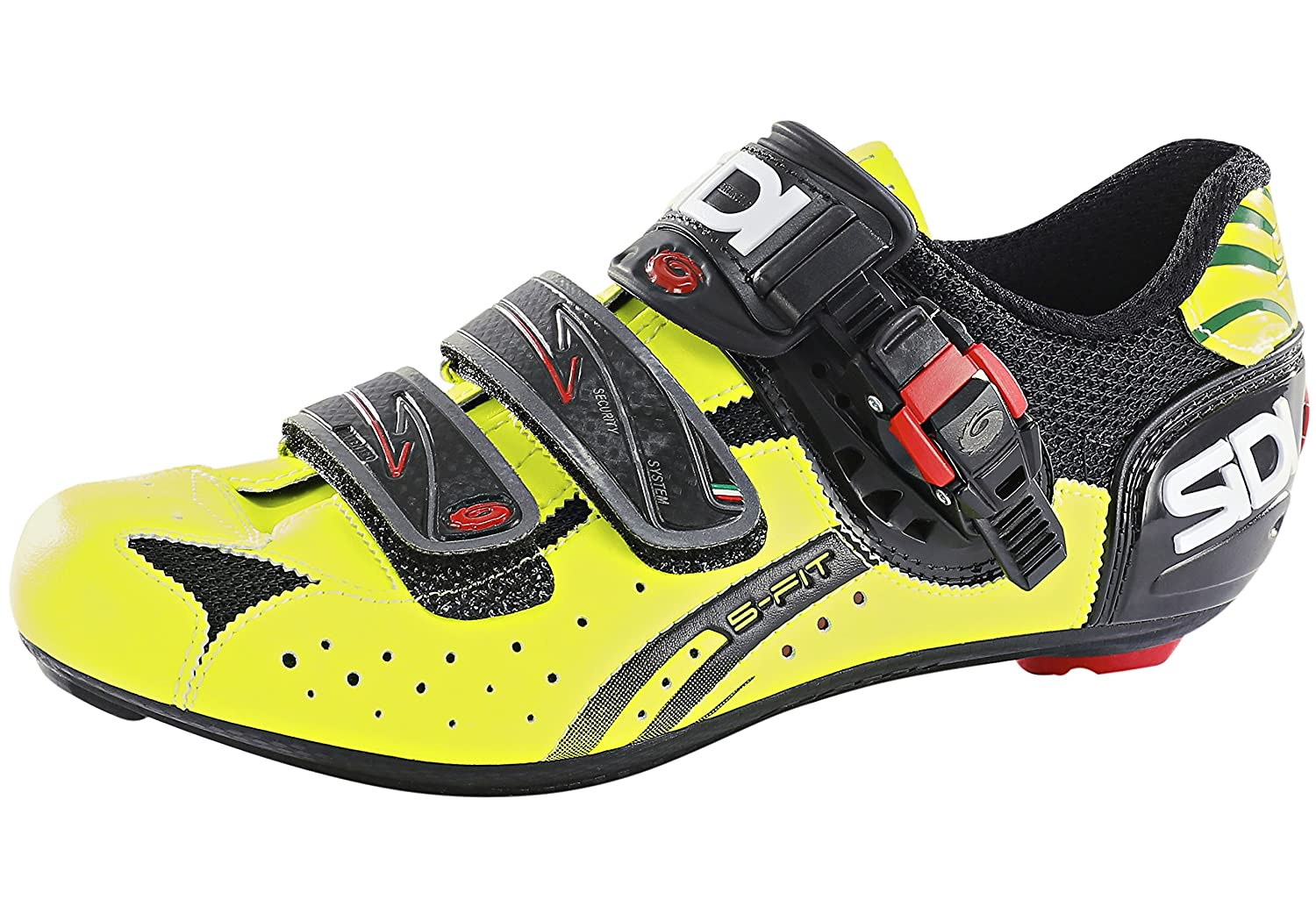Zapatillas Sidi Genius 5 Fit Carbon Black/Yellow Fluo gr. 42: Amazon.es: Deportes y aire libre
