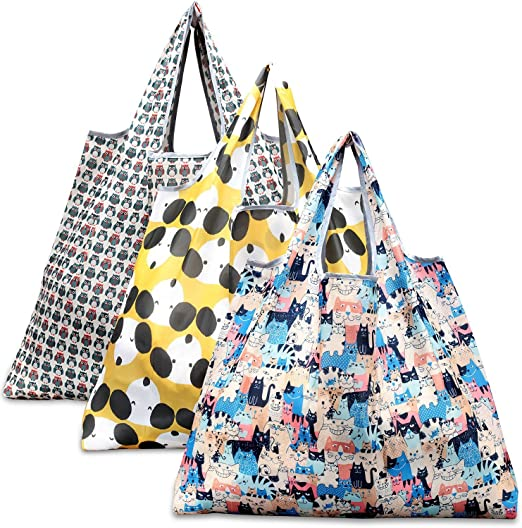 NEW 2 pks of Tote Bags OWL /& CAT